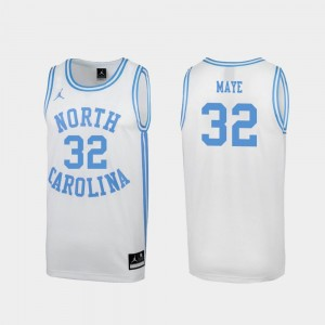 Mens Special Basketball UNC Tar Heels March Madness #32 Luke Maye college Jersey - White