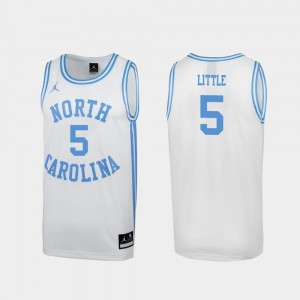 Men's #5 March Madness Special Basketball North Carolina Nassir Little college Jersey - White