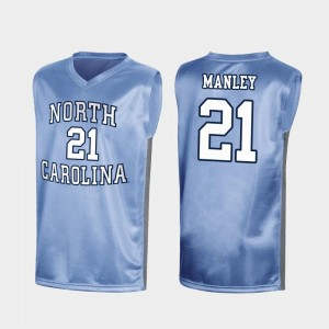 Mens North Carolina Tar Heels March Madness Special Basketball #21 Sterling Manley college Jersey - Royal