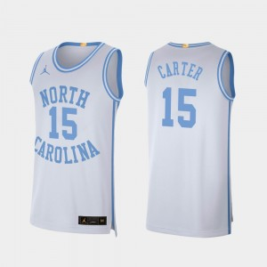 Mens #15 UNC Basketball Retro Limited Vince Carter college Jersey - White