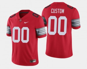 Men's Ohio State Buckeye #00 2018 Spring Game Limited college Customized Jersey - Scarlet
