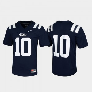 Men's #10 Ole Miss Rebels Game Untouchable college Jersey - Navy