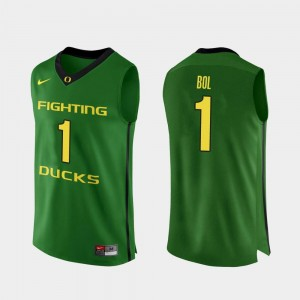 Mens #1 Authentic UO Basketball Bol Bol college Jersey - Apple Green