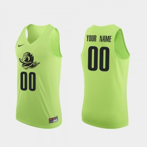 Mens #00 Basketball Oregon Authentic college Customized Jersey - Apple Green