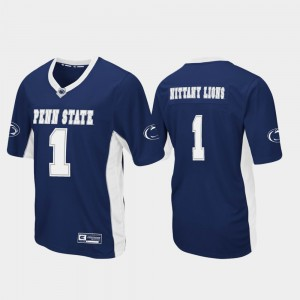 Mens Football Nittany Lions Max Power #1 college Jersey - Navy