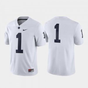 Men's #1 Game Nittany Lions college Jersey - White