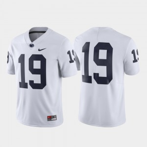 Men's Limited Penn State #19 college Jersey - White