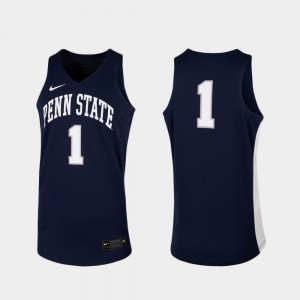 Mens #1 Replica Basketball Penn State Nittany Lions college Jersey - Navy