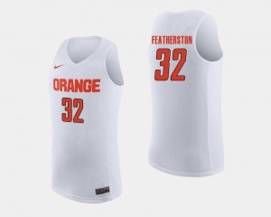 Men's Cuse Basketball #32 Ray Featherston college Jersey - White