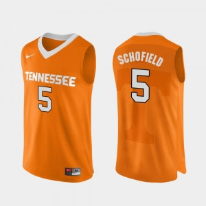 Men #5 Admiral Schofield college Jersey - Orange Authentic Performace Basketball Tennessee Vols