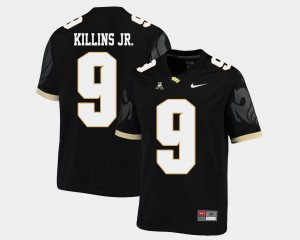 Men's #9 UCF Knights American Athletic Conference Football Adrian Killins Jr. college Jersey - Black