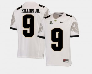 Men Knights Football American Athletic Conference #9 Adrian Killins Jr. college Jersey - White