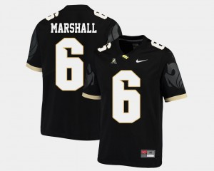 Men Football #6 University of Central Florida American Athletic Conference Brandon Marshall college Jersey - Black