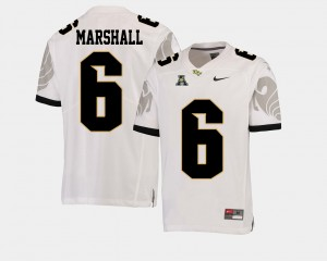 Men's Football #6 American Athletic Conference University of Central Florida Brandon Marshall college Jersey - White