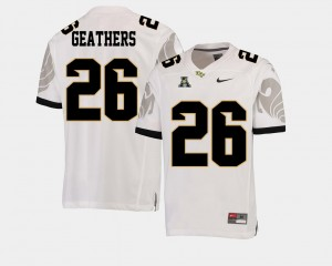 Men American Athletic Conference Knights #26 Football Clayton Geathers college Jersey - White