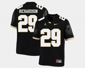 Mens American Athletic Conference Football #29 UCF Knights Cordarrian Richardson college Jersey - Black
