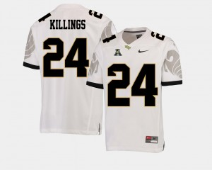 Men Football American Athletic Conference UCF Knights #24 D.J. Killings college Jersey - White
