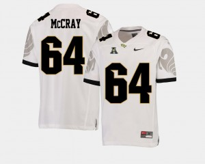Men's Knights Football #64 American Athletic Conference Justin McCray college Jersey - White