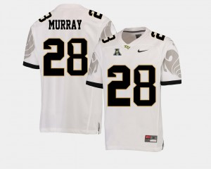 Men American Athletic Conference Football #28 UCF Latavius Murray college Jersey - White