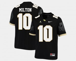 Men's #10 American Athletic Conference Football UCF Knights Mckenzie Milton college Jersey - Black
