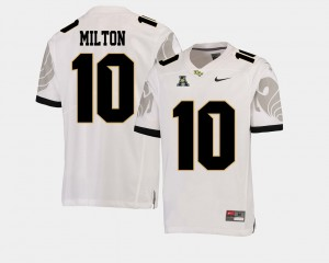 Mens Football UCF Knights #10 American Athletic Conference Mckenzie Milton college Jersey - White