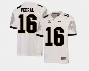 Mens Football #16 American Athletic Conference UCF Noah Vedral college Jersey - White