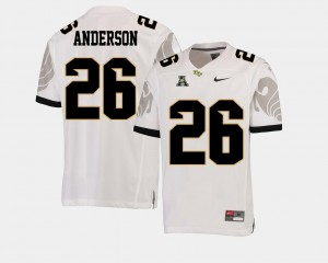Men's Football UCF #26 American Athletic Conference Otis Anderson college Jersey - White