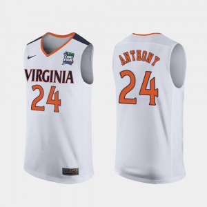 Men Replica #24 Cavalier 2019 Final-Four Marco Anthony college Jersey - White