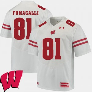 Mens Alumni Football Game Badger 2018 NCAA #81 Troy Fumagalli college Jersey - White