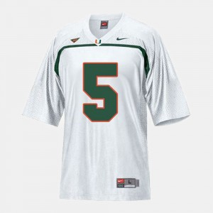 For Kids Football Hurricanes #5 Andre Johnson college Jersey - White