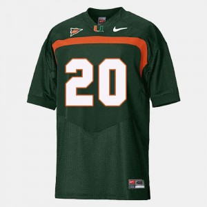 Youth #20 Hurricanes Football Ed Reed college Jersey - Green