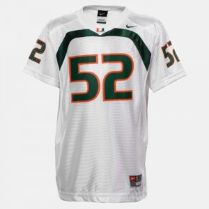 Youth UM Football #52 Ray Lewis college Jersey - White