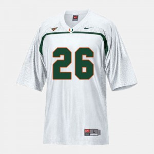 Youth(Kids) #26 Football Miami Hurricanes Sean Taylor college Jersey - White