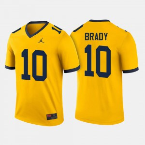 Men's Wolverines #10 Football Tom Brady college Jersey - Maize