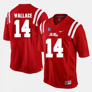 Men Alumni Football Game #14 Ole Miss Mike Wallace college Jersey - Red