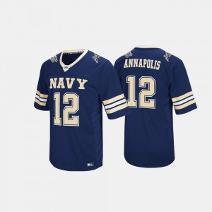 Men Hail Mary II United States Naval Academy #12 college Jersey - Navy