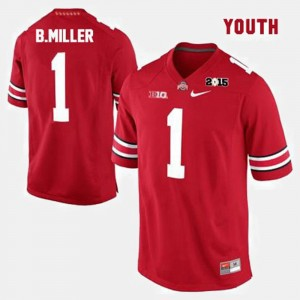 Youth(Kids) Ohio State #1 Football Braxton Miller college Jersey - Red