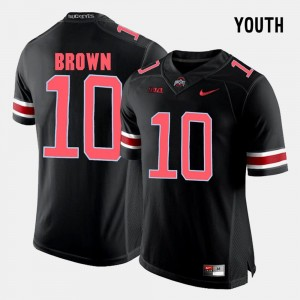 For Kids Ohio State Football #10 CaCorey Brown college Jersey - Black