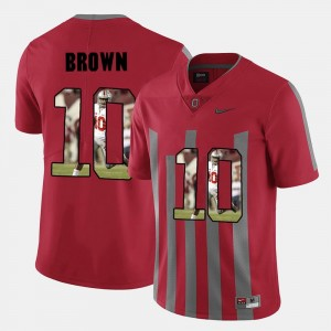 Mens Pictorial Fashion #10 Ohio State Buckeye CaCorey Brown college Jersey - Red