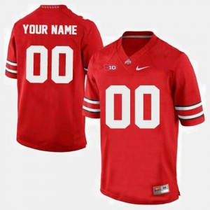 Mens Ohio State #00 Football college Custom Jersey - Red