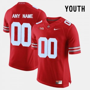 For Kids OSU Limited Football #00 college Customized Jerseys - Red