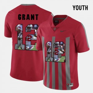 Youth(Kids) #12 Pictorial Fashion Ohio State Buckeyes Doran Grant college Jersey - Red