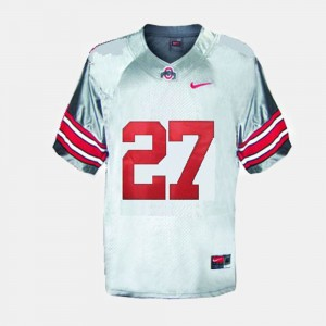 For Kids Football #27 Ohio State Eddie George college Jersey - Gray