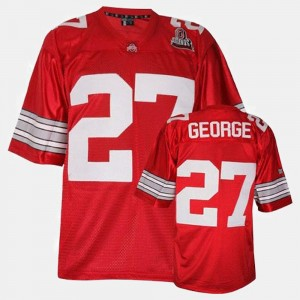 Youth(Kids) #27 Football Ohio State Buckeyes Eddie George college Jersey - Red