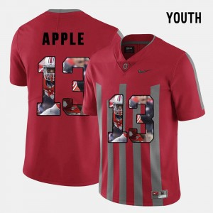 For Kids Pictorial Fashion #13 Ohio State Buckeyes Eli Apple college Jersey - Red