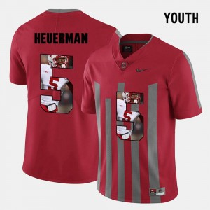 For Kids Pictorial Fashion #5 OSU Jeff Heuerman college Jersey - Red