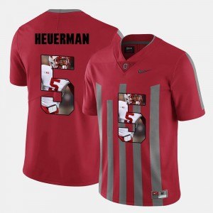 Mens Pictorial Fashion #5 Ohio State Buckeyes Jeff Heuerman college Jersey - Red