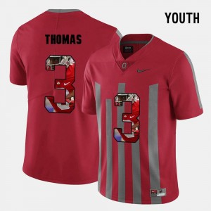 Youth(Kids) #3 Michael Thomas college Jersey - Red Pictorial Fashion OSU