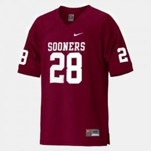 For Kids Football #28 Oklahoma Adrian Peterson college Jersey - Red