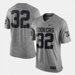 Men's Gridiron Limited University Of Oklahoma Gridiron Gray Limited #32 college Jersey - Gray